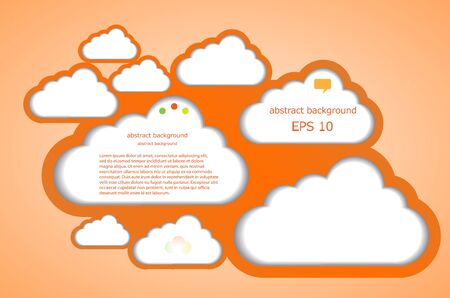 Vector computer cloud design. Eps10 illustration Stock Vector - 13772576