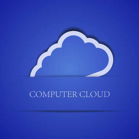 Vector creative computer cloud background. Eps10 illustration Stock Vector - 13786269