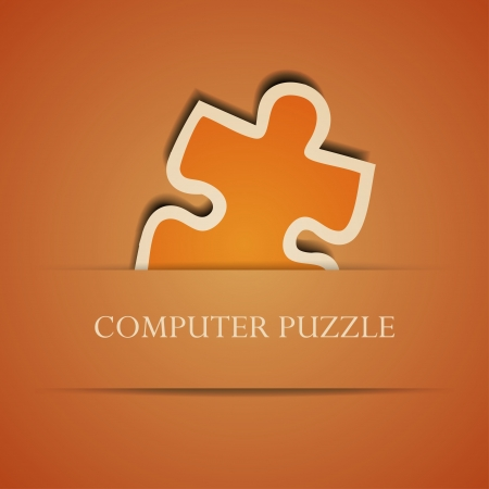 Vector creative computer puzzle background. Eps10 illustration Vector