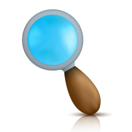 Vector magnifier isolated on white. Eps10 Stock Vector - 13796971