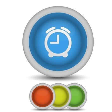 vector alarm clock icon on white. Eps10 Stock Vector - 13796988
