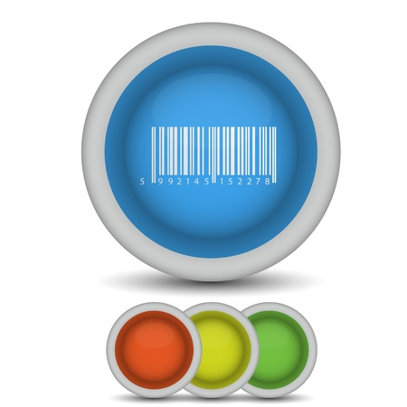 Vector bar code icon on white. Eps10 Stock Vector - 13796993