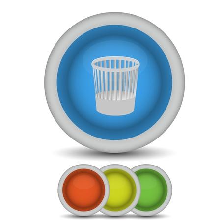 Vector bucket icon on white. Eps10 Vector