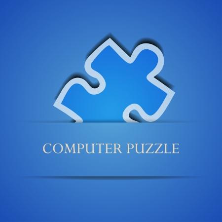 Vector creatieve computer puzzel achtergrond. Eps 10 illustratie