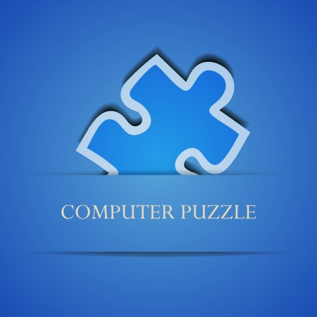 Vector creative computer puzzle background. Eps 10 illustration Stock Vector - 13854457