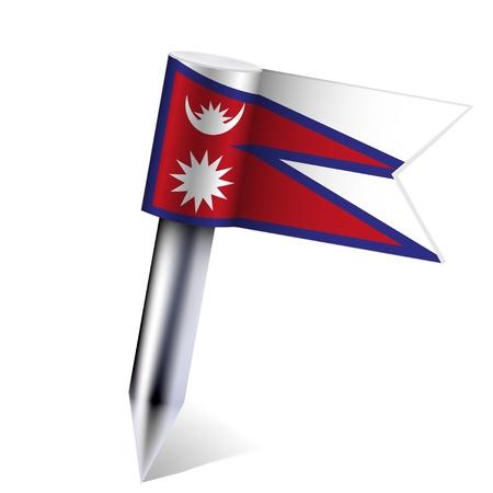 Vector Nepal flag isolated on white. Eps10 Stock Vector - 13894613