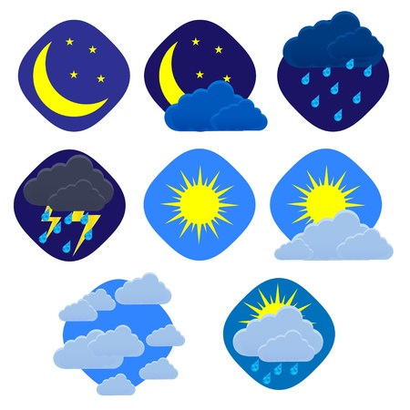 weather set on white.  Stock Vector - 13939751