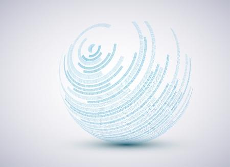binary sphere background. illustration