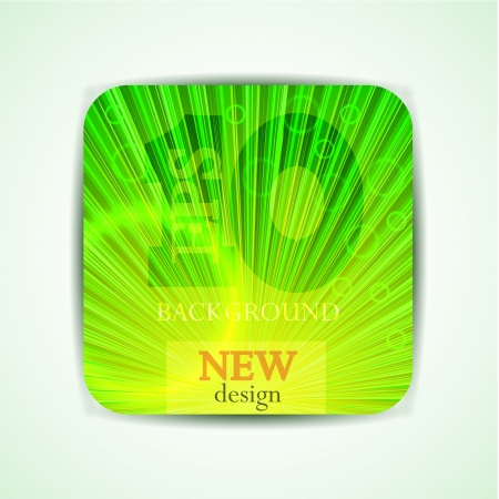green abstract poster. Stock Vector - 14017219
