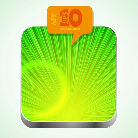 green app icon with orange bubble speech.  Vector