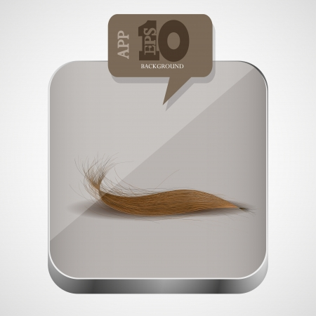 hair app icon with brown bubble speech.  Vector
