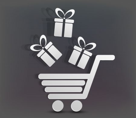 Vector holiday shopping background. Eps10 creative illustration Vector