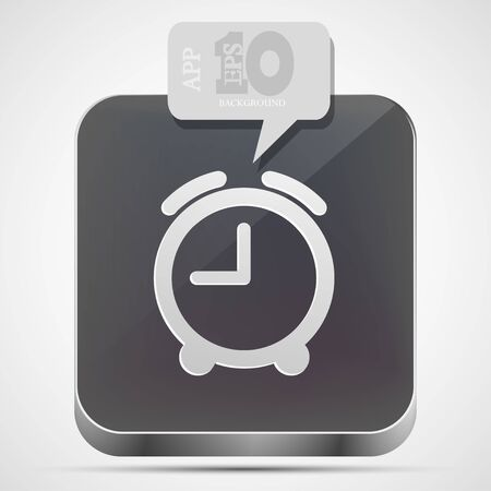 alarm clock app icon with gray bubble speech Vector