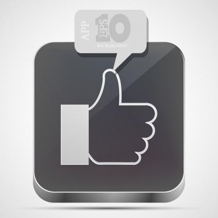like app icon with gray bubble speech. Stock Vector - 14073582