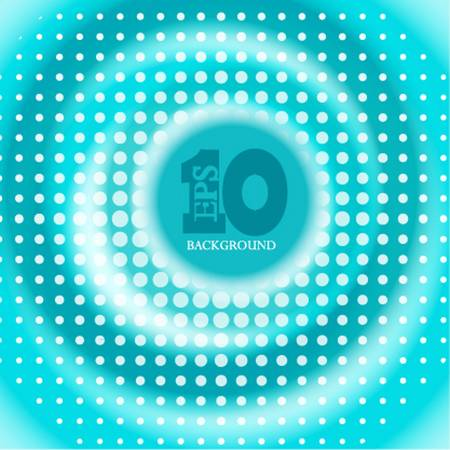 Vector creative circle blue background. Eps10 Vector