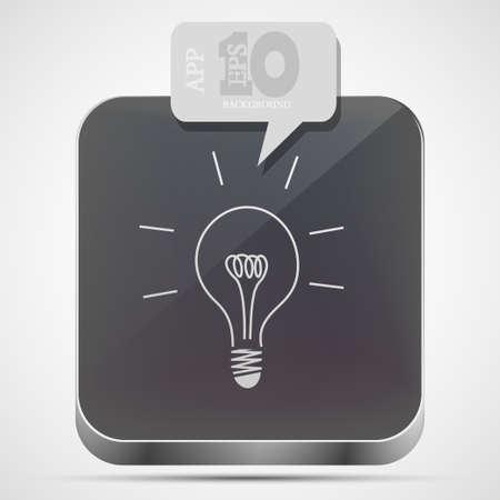 Vector idea app icon with gray bubble speech. Eps10 Vector