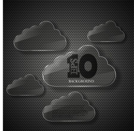 Vector glass computer clouds background. Eps10 illustration Stock Vector - 14073640