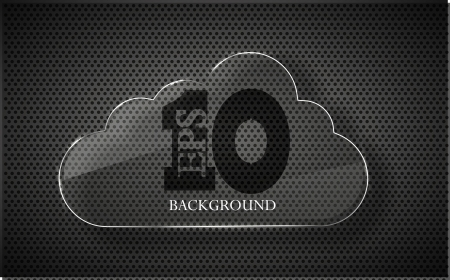 Vector glass computer cloud on metal background. Eps10 Vector