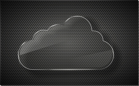glass computer cloud on metal background. Stock Photo - 14073636