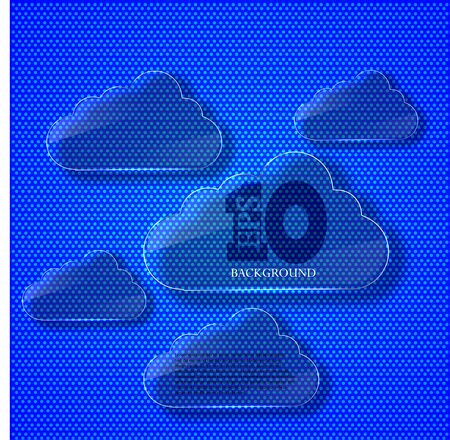 Vector creative glass computer clouds background. Eps 10 Stock Vector - 14073631