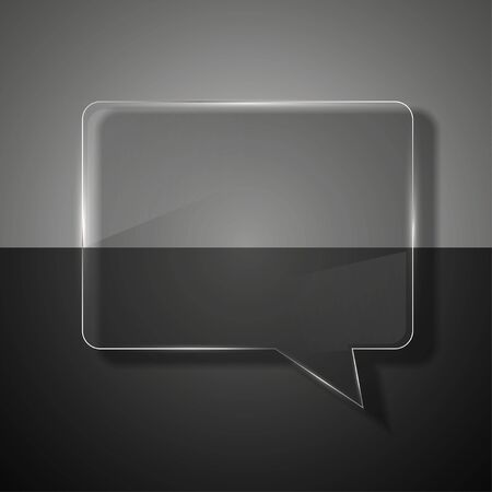 glass bubble speech on colorful background. Stock Photo - 14073643