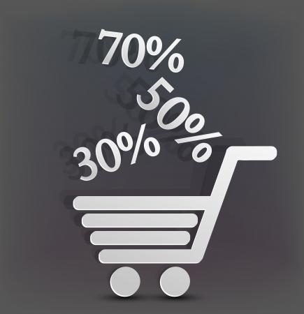 holiday shopping background.  creative illustration Stock Vector - 14181982