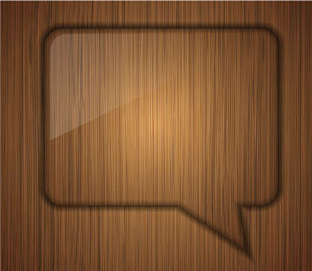 wooden bubble speech. Business background design. photo
