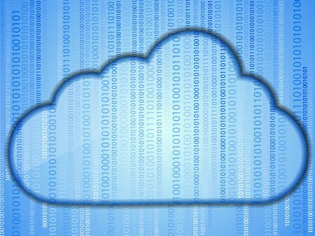 concept computer cloud with binary code. Business background design photo