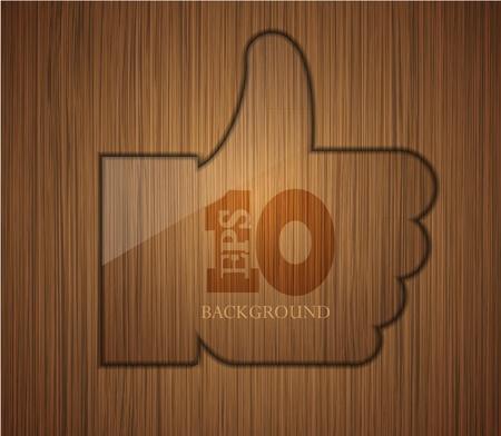 thumbs up business: pulgares de madera hasta. Empresas de dise�o de fondo. F�cil de editar.