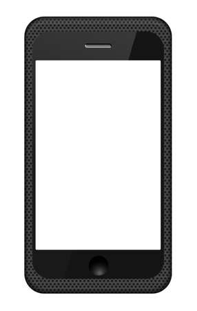 smartphone in a grid cover isolated on white. Vector