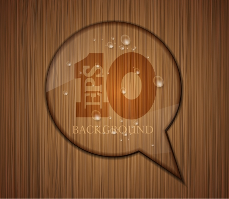 wooden bubble speech. Business background design. Easy to edit Vector