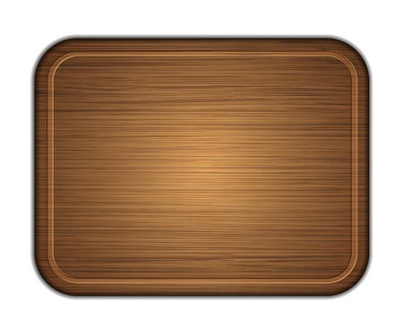wooden cutting board isolated on white background. photo