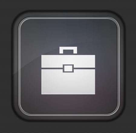 Vector versie. Briefcase icoon.