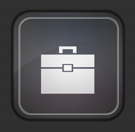 Vector version. Briefcase icon.  Vector