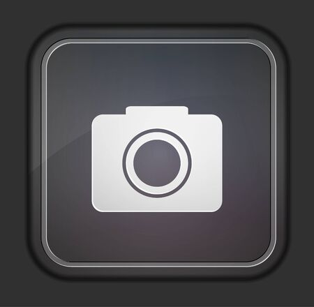 Vector version. Camera icon.  Vector