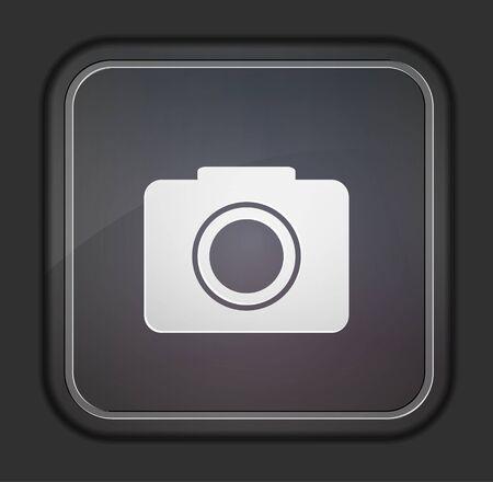 Vector version. Camera icon.  Vector