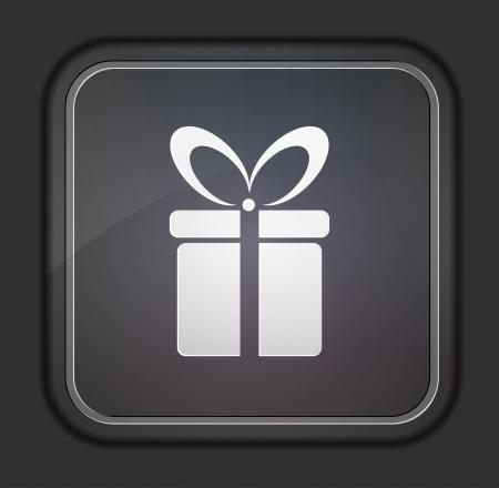 kerst markt: Vector versie. Gift icoon.