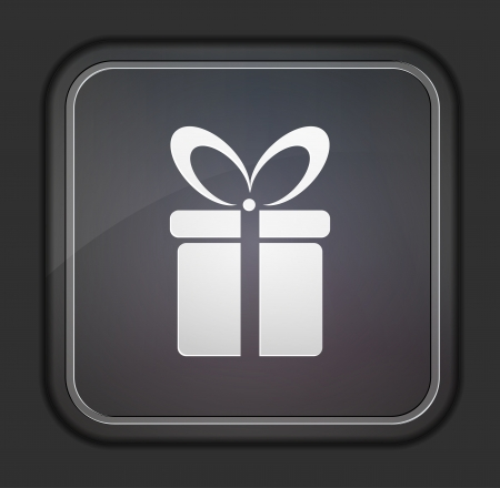gift basket: Vector version. Gift icon. Illustration