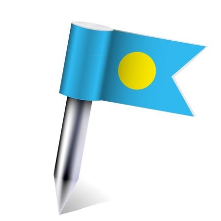 Vector Palau flag isolated on white. Ilustração