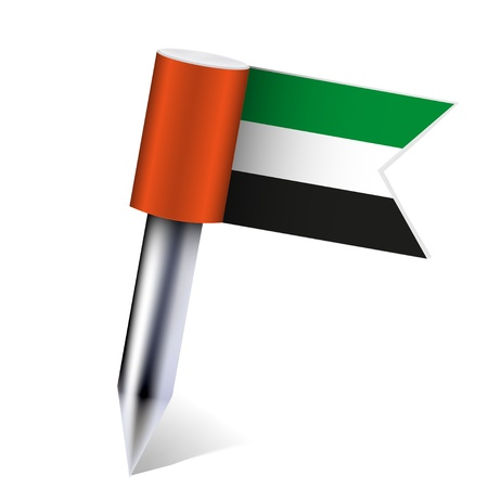 Vector United Arab Emirates flag isolated on white.