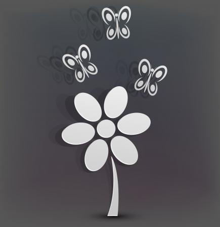 Vector creative floral background. Vector