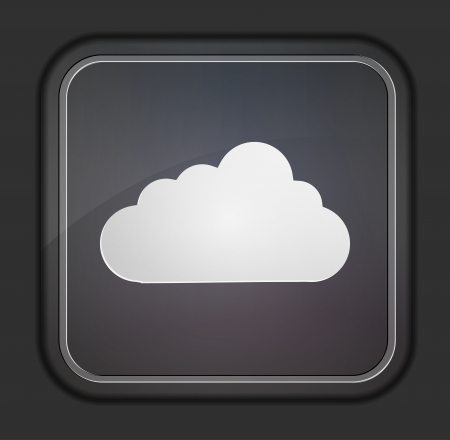 Vector version. Cloud icon. Stock Vector - 14254146
