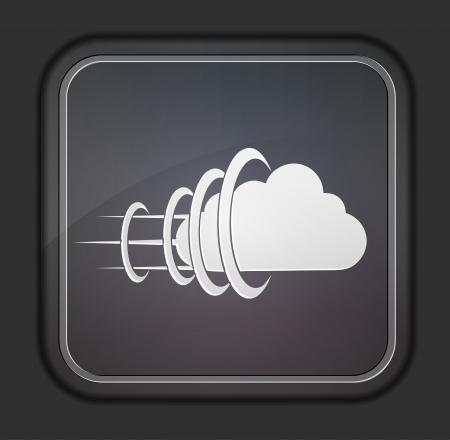 Vector version. Concept cloud icon. Stock Vector - 14254158