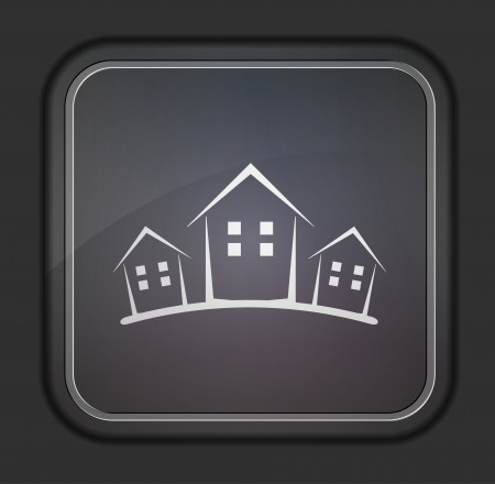 Vector version. Concept real estate icon.  Vector