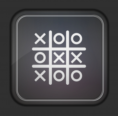 Tic tac toe icon.  Easy to edit Vector
