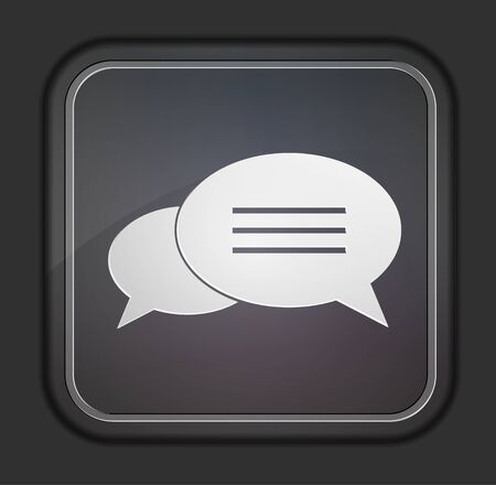 Bubble speech icon. Easy to edit Vector