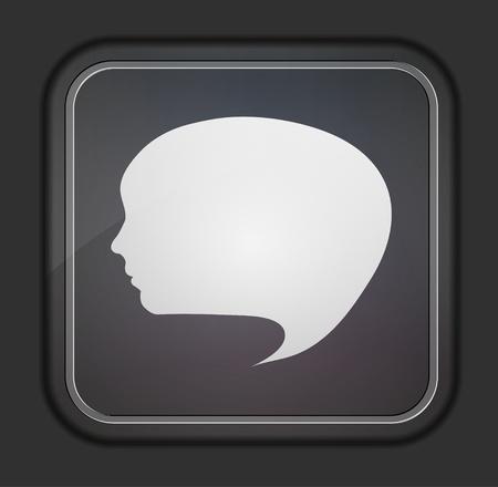 Bubble face icon Vector
