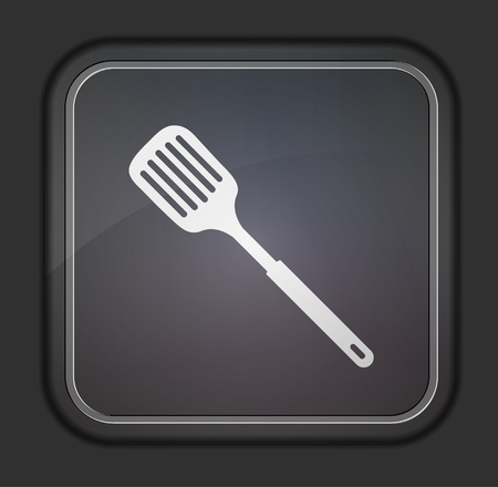 slotted kitchen spoon icon Stock Vector - 14403661