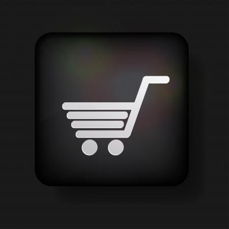 winkelen pictogram op zwarte