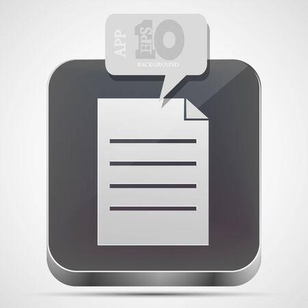 Vector file app icon with gray bubble speech. Stock Vector - 14912578